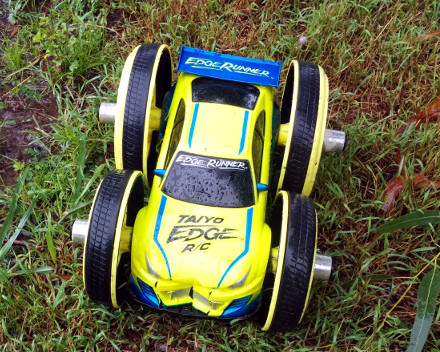 Crashed RC Car